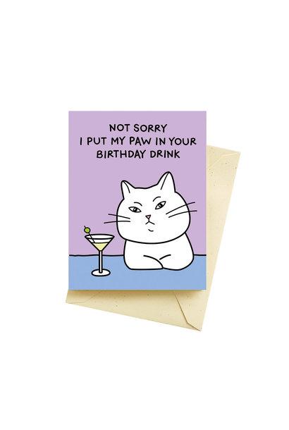 cat martini card