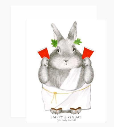 party animal bunny birthday card-1