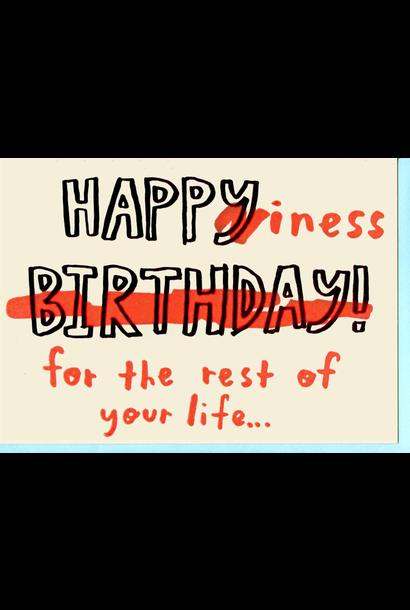 happiness birthday card