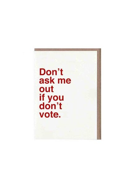 don't ask me out card