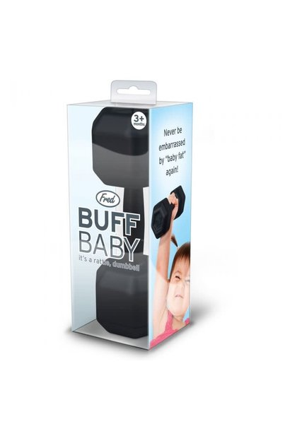 buff baby dumbell rattle