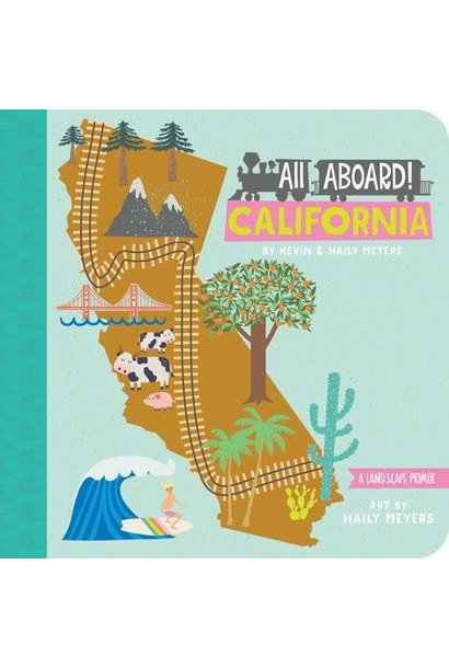 all aboard california board book