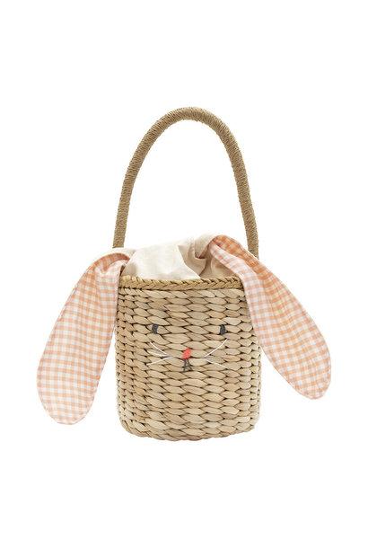 bunny woven straw bag