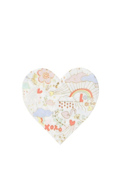 heart doodle small napkins