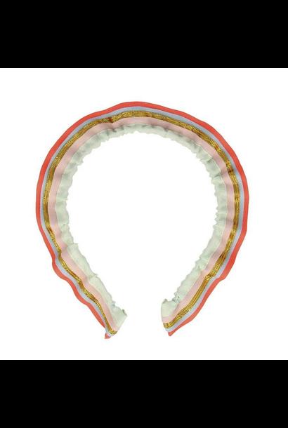 rainbow ruffle headbad