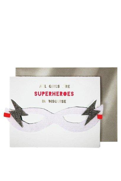 girl superhero birthday card