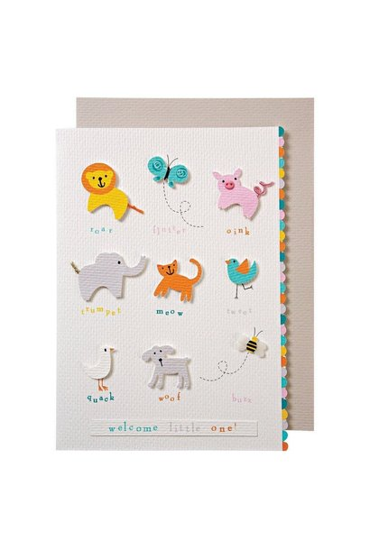animals with sound baby card