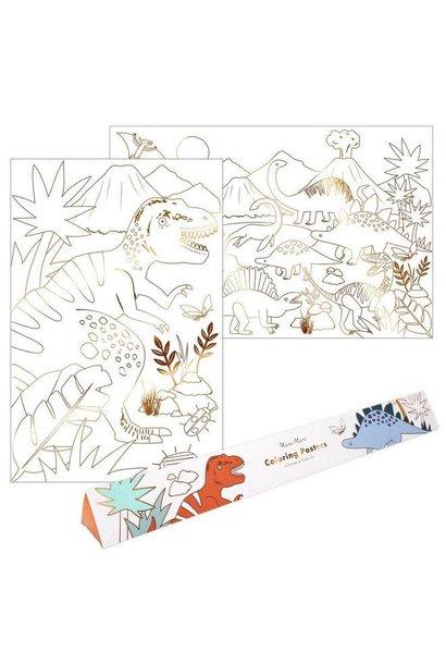 dinosaur kingdom coloring posters