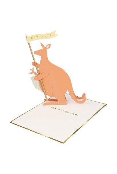 baby kangaroo stand-up card
