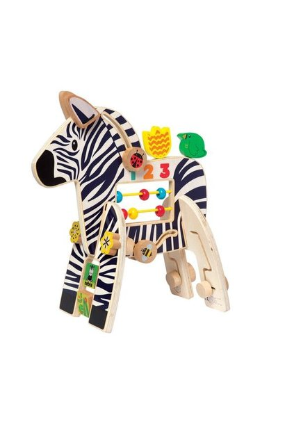 activity center zebra toy