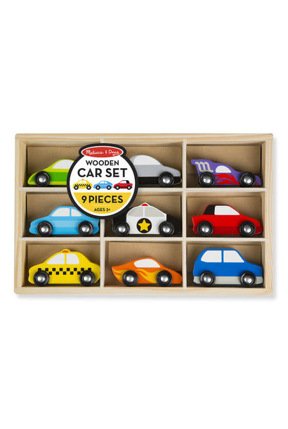 wooden cars toy set