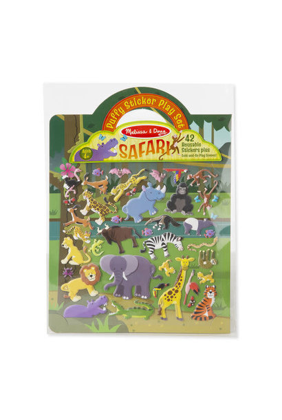 safari puffy sticker play set