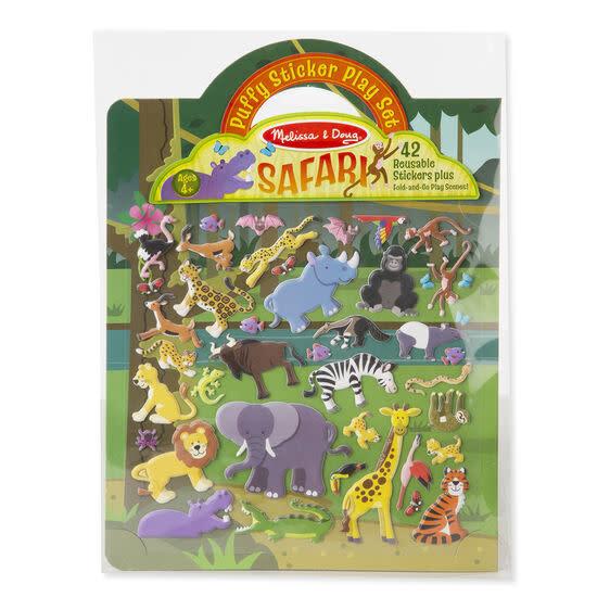 safari puffy sticker play set-1