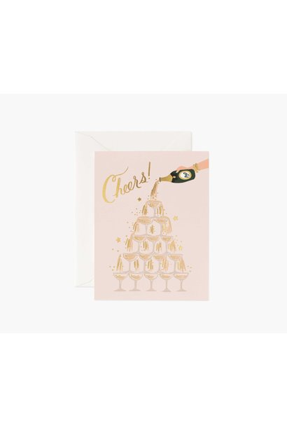 champage tower cheers card