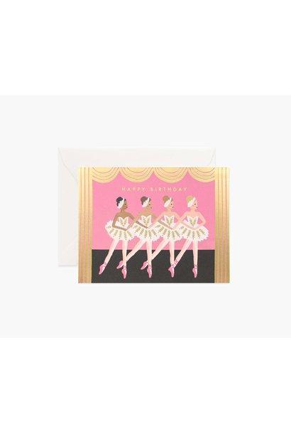 birthday ballet card