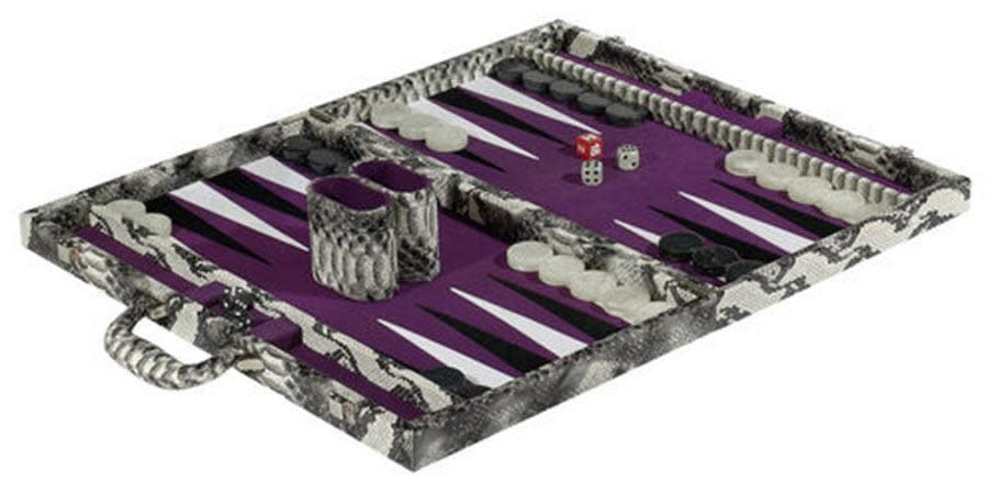 snakeskin backgammon game-1