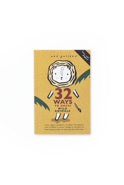 WG1 32 Ways to Dress Wild Animals card deck