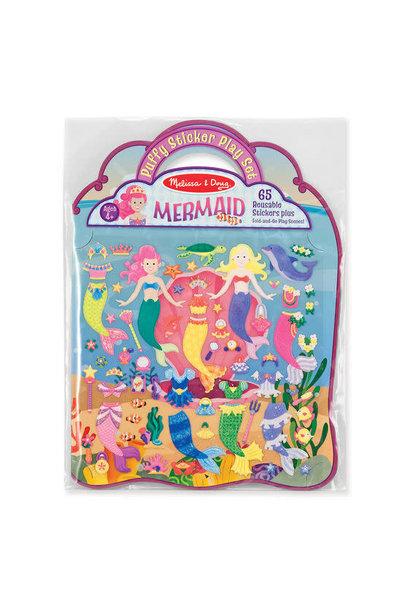 puffy sticker playset-mermaid