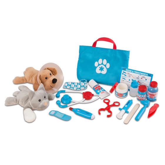 examine + treat pet vet play set-2