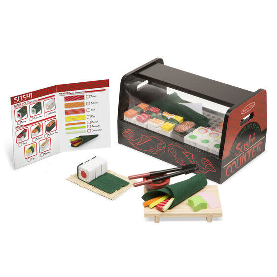etched roll wrap slice sushi counter-1
