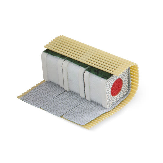 etched roll wrap slice sushi counter-5