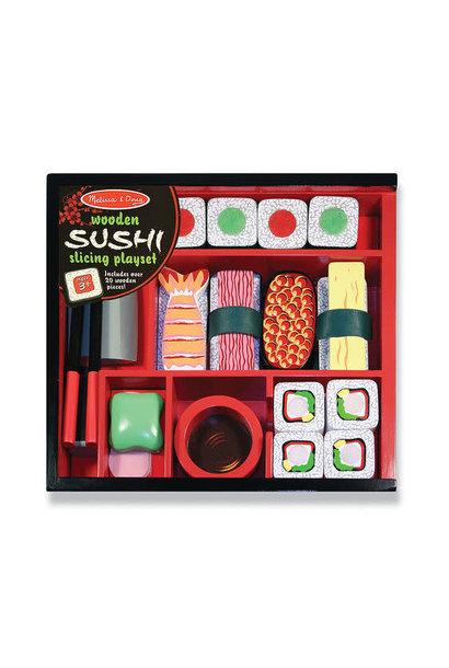 etched sushi slicing set toy