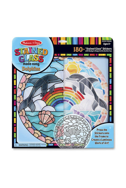dolphins stained glass art kit
