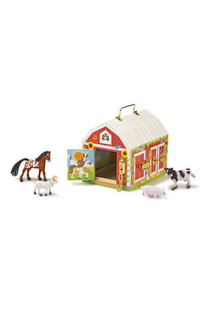 etched latches barn toy