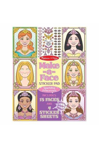 princess make-a-face stickers