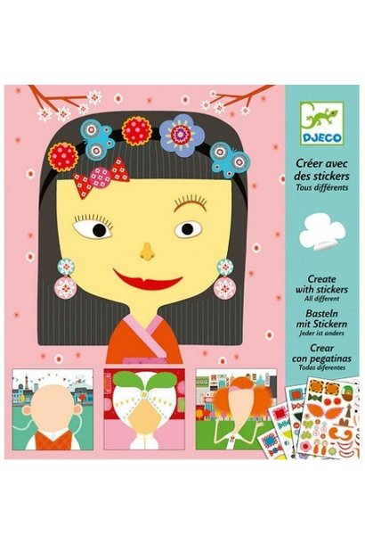 create faces petits trophees sticker kits