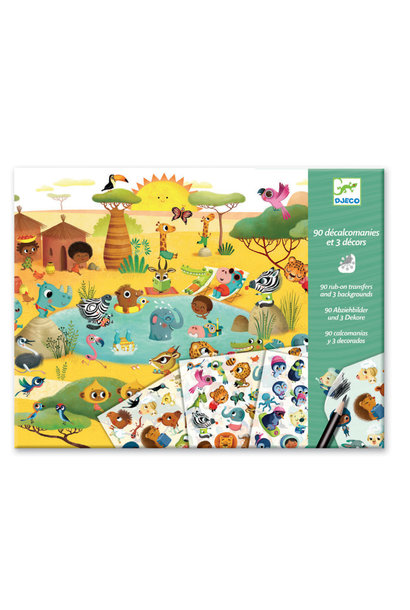 transfers around the world petit gift art kit