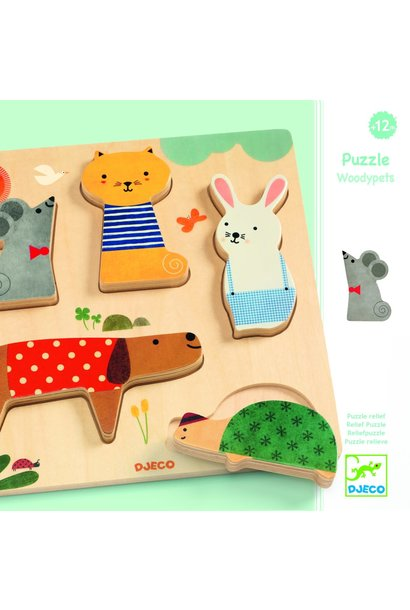 woody pets wooden puzzles