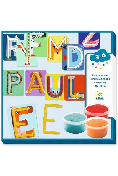 modelling letters art kit