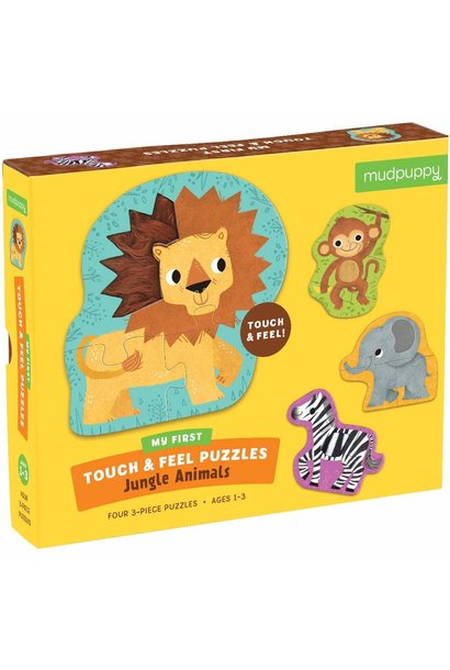 touch feel mighty jungle animals puzzle