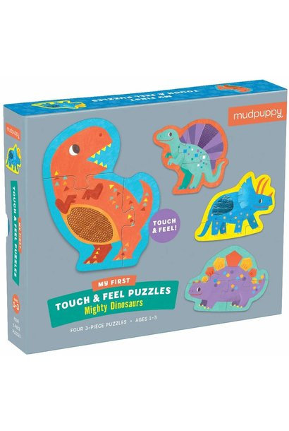 touch feel mighty dinosaurs puzzle