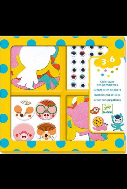 I love stickers animals kit