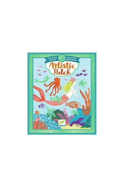 ocean glitter artistic patch art kit