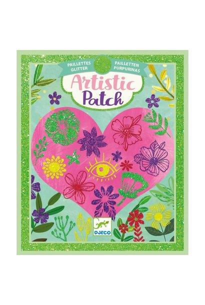 petals glitter artistic patch art kit