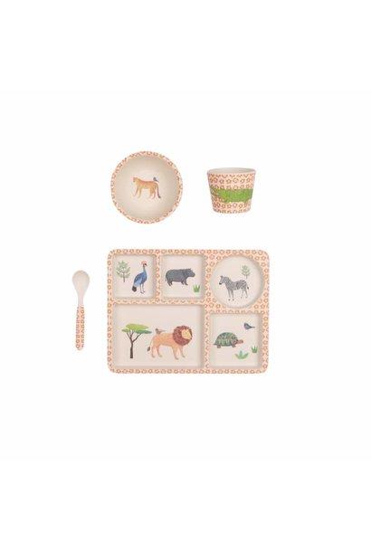 safari divided plate set