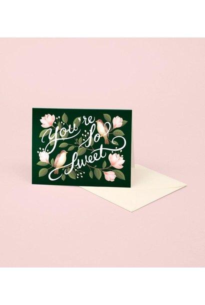 birds + magnolias thank you card