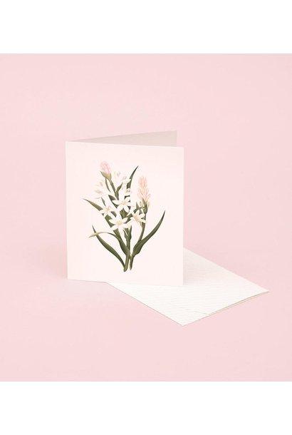 tuberose botanical scented card