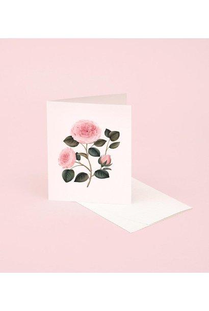 rose botanical scented card