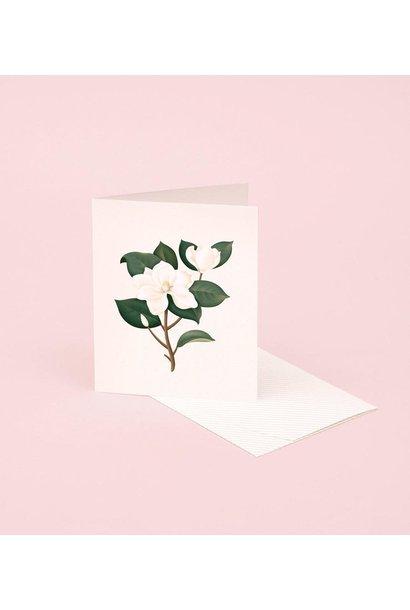 magnolia botanical scented card