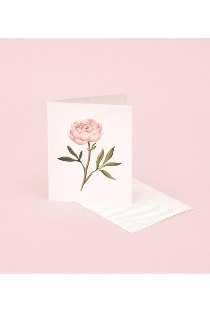 peony botanical scented card