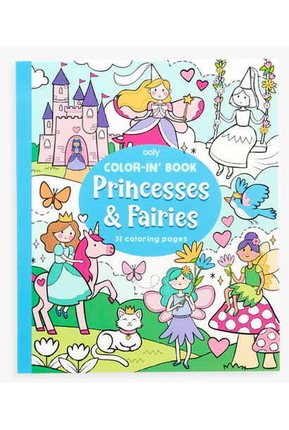 princesses & fairies color-in' book
