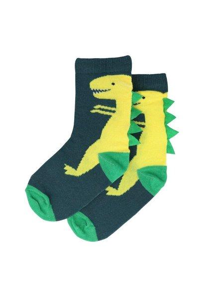 dinosaur sparkle socks 3-5yrs