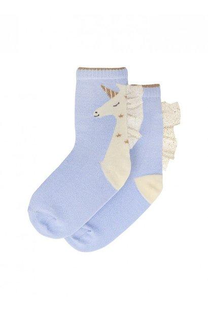 unicorn sparkle socks 3-5yrs
