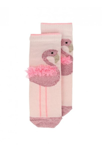 flamingo sparkle socks 3-5yrs