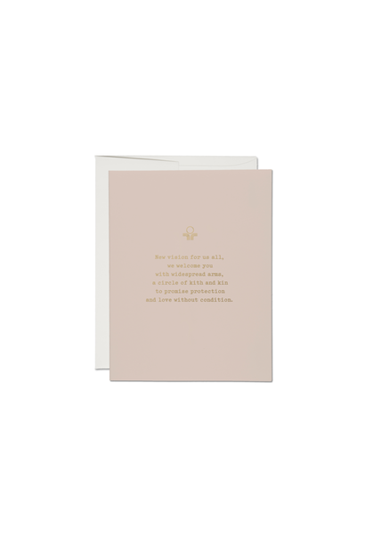 widespread arms foil baby card