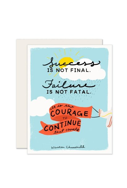 courage to continue card